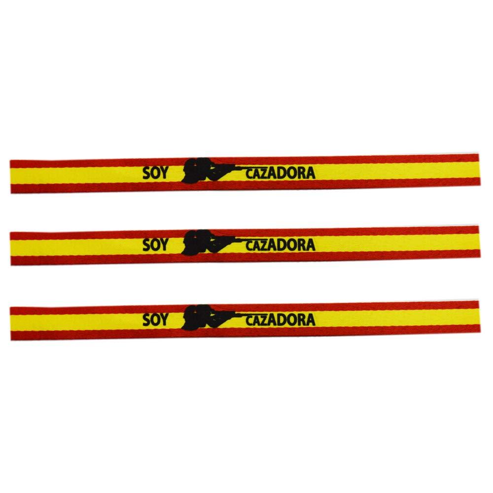 ALBERO Pulsera Soy Cazadora con Bandera de España. Sublimación. 30 ...
