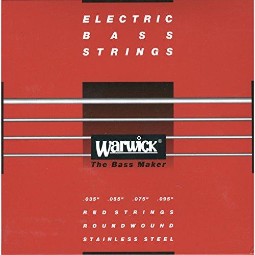 Warwick Bass Saiten,4er,35-095,Red Stainless Steel
