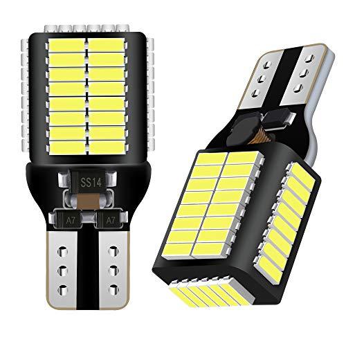 AGLINT T15 W16W LED Ampoule CANBUS 4014 54SMD 12V 24V 912 921 Pour RV Intérieur Lumière Auto LED Sauvegarde Inversée Ampoule Xenon Blanc 2PCS