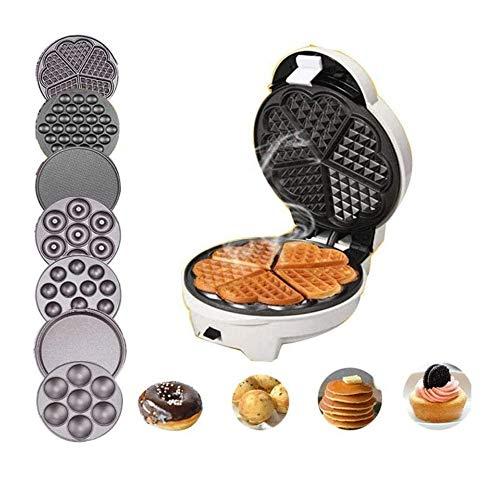 Gaufrier professionnel Ménage automatique Waffle, machine gâteau, machine Muffin, machine Egg Roll, multi-fonction Egg machine 7 plats dans une machine, facile à changer et propre