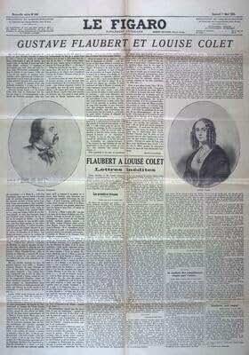 FIGARO (LE) [No 369] du 01/05/1926 - GUSTAVE FLAUBERT ET LOUISE COLET - PAR MAURICE LEVAILLANT FLAUBERT A LOUISE COLET - LETTRES INEDITES