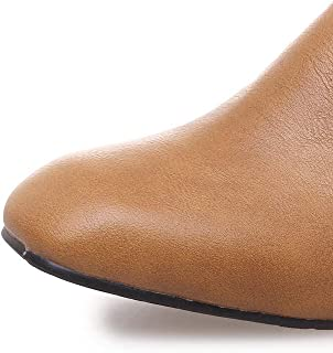 BalaMasa Womens APL12434 Pu Block Heels