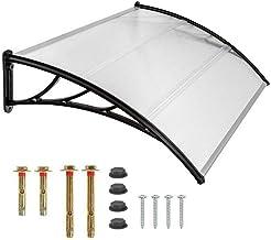Homgrace Tejadillo de Protección Marquesina Exterior Toldo para Puertas y Ventanas 100 x 120 CM