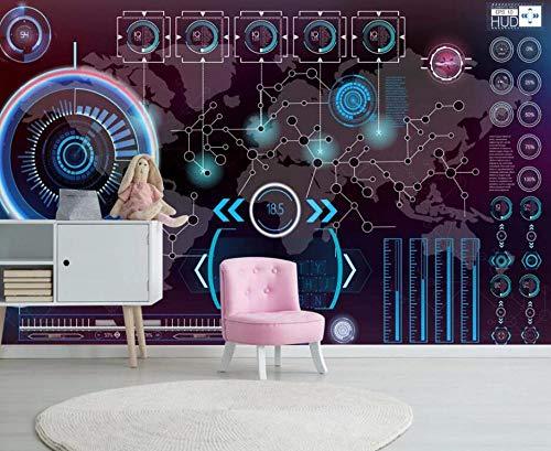 Foto Tapete 3D Selbstklebend Tapete 3D Effekt Einfach Technologischer Sinn Mode Schaltplan Wandbild Geeignet Für Sofa Fernseher Schlafzimmer Wand Wohnzimmer Schlafzimmer Korridor - 350x256CM-XXL