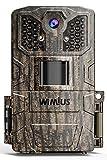 WiMiUS H6 Wildkamera, 16MP 1080P HD Wildkamera mit Bewegungsmelder Nachtsicht, Wildtierkamera mit 940 nm IR-LEDs 20m und IP66 Wasserdicht Jagdkamera, für Tierbeobachtung und Heimüberwachung