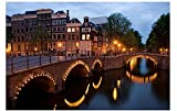 Países Bajos Amsterdam Building Night View 5D Diamond Painting Art Full Drill Set Full Drill Diy Diamante Bordado Pintura Para Adultos Hogar Pared Decoración