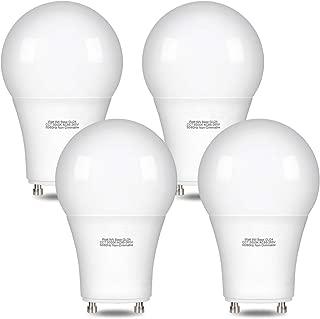 Comzler 9Watt GU24 Light Bulb LED, 72W Equivalent A19 LED Bulbs GU24 Base, 5000K Daylight 900 Lumens Non-dimmable Replacing CFL Ceiling Light, LED Light Bulbs 4 Pack(5000K)