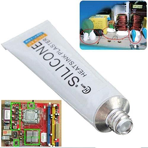 10g Silikon Wärmeleitkleber Hochleitfähiger Kleber Tube Heatsink Plaster zum Kühlen von Hochleistungs-LEDs Transistoren Electronics Projects