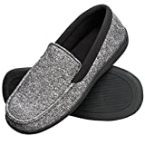 Hanes Men's Slippers House Shoes Moccasin Comfort Memory Foam Indoor Outdoor Fresh IQ (Large (9.5-10.5),...