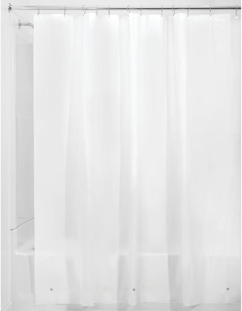 iDesign Cortinas de ducha de tela, impermeables, resistentes al moho, 183.0 cm x 183.0 cm, Frost White