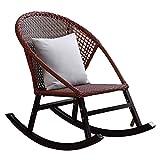 Chaise de Planeur de pépinière, chaises à Bascule Modernes en rotin tissé à la Main pour Salon extérieur/intérieur Chambre Balcon Jardin Chaise Longue