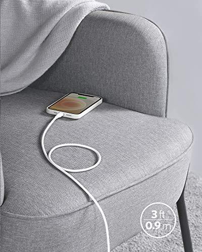 Anker Powerline III Flow, USB-C auf Lightning Ladekabel PD, kompatibel mit iPhone 12 Pro Max/12/11 Pro/X/XS/XR/8 Plus, AirPods Pro, 90cm, MFi-Zertifiziert, Silikagel (in Schneeweiß)