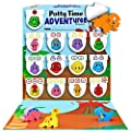 LIL ADVENTS Potty Time Adventures Potty Training Game - 14 Wood Block Toys, Chart, Activity Board, Stickers and Reward Badge for Toilet Training, Dinosaurs from Lil Advents