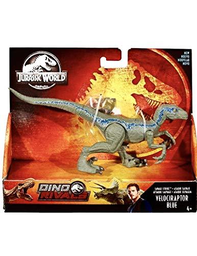 Jurassic World Action Figure Dino Rivals Savage Strike Velociraptor Blue Jurassic Park Action Figure