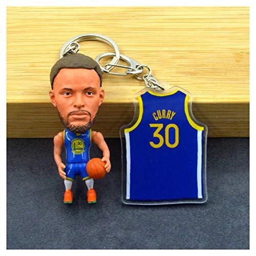 ahjs456 Kobe Curry NBA Baloncesto Camiseta Llavero Colgante Llavero muñeca Estrella James Durant Wade 6