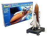 Revell- Discovery + Booster Rockets Maqueta Transbordador Espacial, Color Multicolor (Wolf Grey/Pure Platinum/White 010), 38.5 EU (RMG/4736)