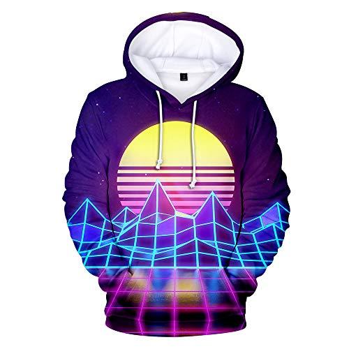 LZHWY Sudaderas con Capucha Impresión 3D Sudadera con Capucha Suéter Camiseta De Béisbol Cosplay Unisex Chaqueta Vaporwave