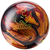 Brunswick Rhino Bowling Ball, Red/Black/Gold, 13 lb