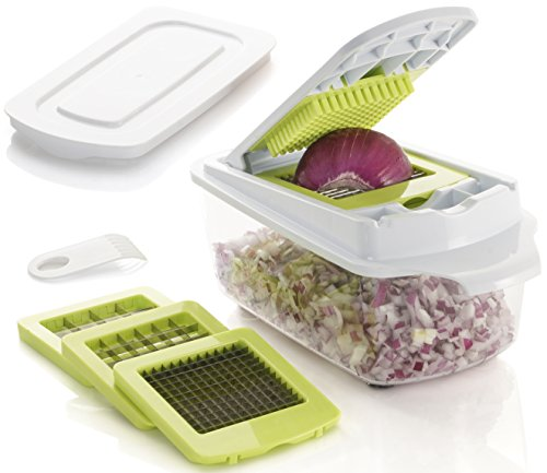 Brieftons QuickPush Food Chopper: Strongest & 200% More Container Capacity, 30% Heavier Duty, Onion...