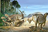 SiJOO Tyrannosaurus Rompecabezas de Madera, Rompecabezas de Papel de 1000 Hojas, Tangram, Tarjeta Blanca, Juguetes educativos para niños Adultos