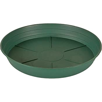 350mm Heavy Duty Green Deep Saucer for Plant Pot 14/""