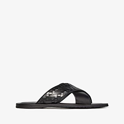 Bottega Veneta Sapa Crisscross Sandal (Black) Men