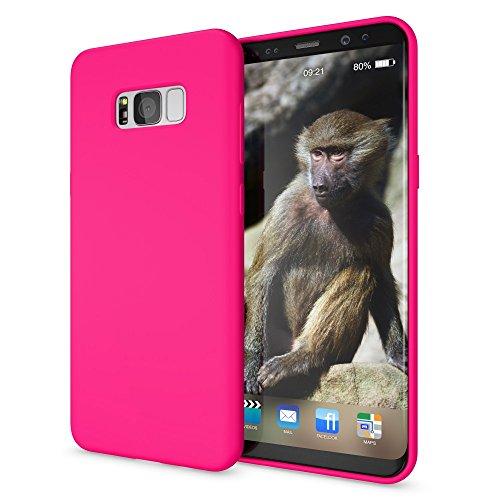 NALIA Cover Neon compatibile con Samsung Galaxy S8 Plus, Custodia Protezione Ultra-Slim Neon Case Protettiva Morbido Cellulare in Silicone Gel, Gomma Telefono Bumper Sottile, Colore:Pink