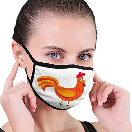 qilifz Washable Breathable Shield Cute and Funny Colorful Farm Rooster Chicken Unisex Shield