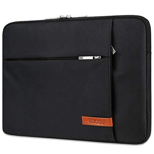 Lacdo 15 Inch Laptop Sleeve Case for 16-inch New MacBook Pro 2019/15 inch New MacBook Pro 2016-2019/15.4' Old MacBook Pro/15' Surface Book 3 2/XPS/MateBook D 15 Water Repellent Notebook Case Bag,Black