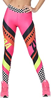 Zumba Dance Fitness Activewear Tight Wide Jacquard Shaping Waistband Booty Lifting Ankle Length Pants Compression Leggings...