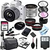 Canon EOS M50 Mark II (White) Mirrorless Digital Camera with...