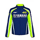 218VR46Valentino Rossi # 46MotoGP Herren Softshell Jacke Yamaha Factory Racing, blau, Mens (XS) 18cm/42 Inch Chest