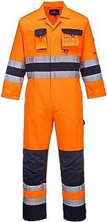 Portwest Nantes Hi-Vis Coverall, Colour: Orange/Navy, Size: L, TX55ONRL