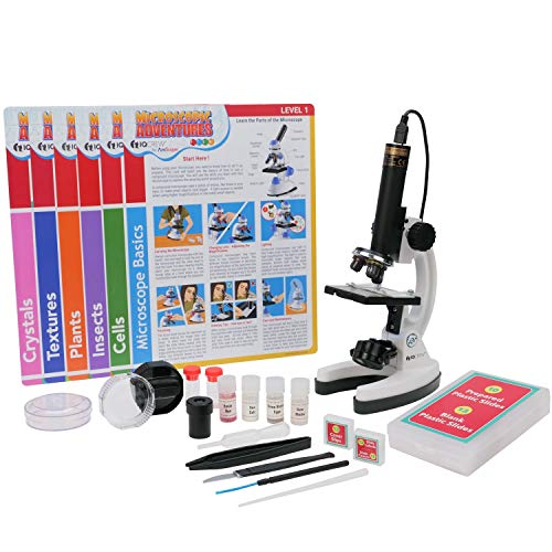 AmScope IQCREW Kid's Premium 85+ Piece Microscope, Color Camera and Interactive Kid's Software Kit with Educational Experiment Cards