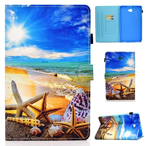 Hülle für Samsung Galaxy Tab A6 10,1 2016 Schutzhülle SM-T580/T585 Licht PU Leder Folio Flip Cover Tasche Case mit Auto Schlaf/Wach Funktion für Galaxy Tab A 10.1 Zoll 2016,Blauer Himmel