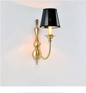 Sconce/Wall Sconces American Retro Single Head Wall Lamp Copper Wall Lamp Bedroom Bedside Corridor Aisle Balcony Living Ro...