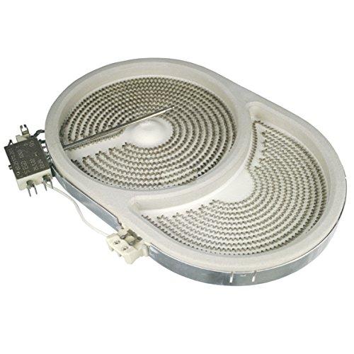 Radiateur Chauffe-poutre en vitrocéramique Plaque vitrocéramique pour Bosch Balay Constructa Siemens Neff 00445833 445833 ovale 260x165mm 2400/1600W 230V
