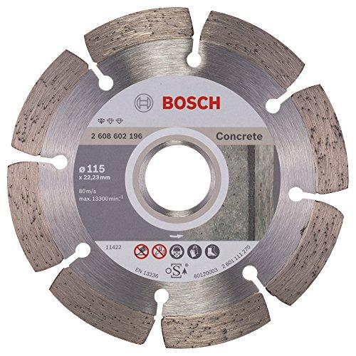 Bosch Professional Diamanttrennscheibe Standard für Concrete, 115 x 22,23 x 1,6 x 10 mm, 1-er Pack, 2608602196