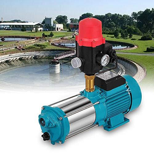 1300W Edelstahl Kreiselpumpe Hauswasserwerk 6000L/h 9,8 bar Wasserpumpe Pumpensteuerung Gartenpumpe Selbstansaugend mit Druckschalter