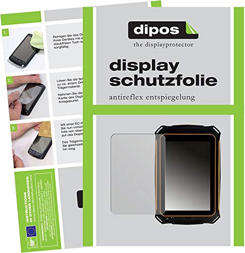 dipos I 2X Schutzfolie matt kompatibel mit i.onik TX Serie 1 (7 Zoll) Handwerker Tablet Folie Bildschirmschutzfolie