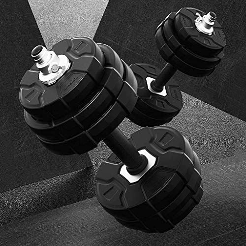 LAZ Adjustable Dumbbell hand weight Barbell Perfect men and women fitness home equipment adjustable barbell set dumbbell weightlifting sports set Dumbbell (Size : 15kg)