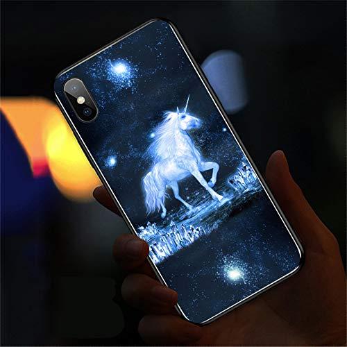 LINANNAN Si Iphone12 teléfono, luz teléfono Inteligente, recordatorio Brillante Cuando se Llama, si el teléfono Vidrio, la luminiscencia de Voz, protección contra caídas y antidetonante,3,iphone7plus