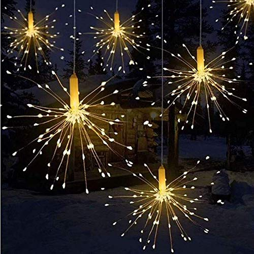 Firework LightLED USB Remote Control Firework String Lights, DIY 8 Kinds of Dimmable String Fairy Lights, Used for Home Patio Decoration, Holiday, Christmas Fairytale Firework Lights (50Branches/2LED)