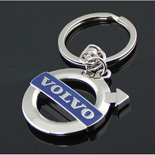 Volvo Blue Logo 3D Chrome Plated Key Chain Ring FOB by Madeforcar