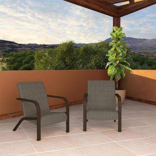 COSCO Outdoor Living SmartWick Lounge Chairs, Warm Gray