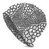 Lsjuee Art Form Gorro de punto con células deshilachadas Gorros con calavera para hombres y mujeres