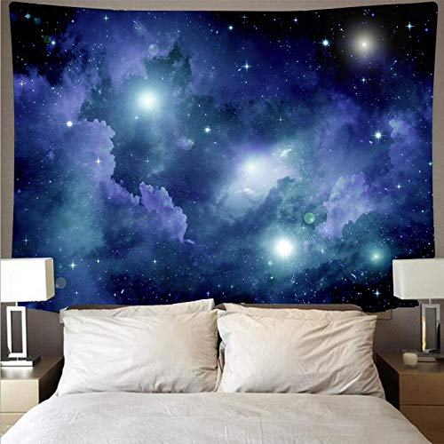 KHKJ Cielo Estrellado Galaxia Revestimiento de Pared Arte Tapiz psicodélico Colgante de Pared Toalla de Playa Manta A5 200x180cm