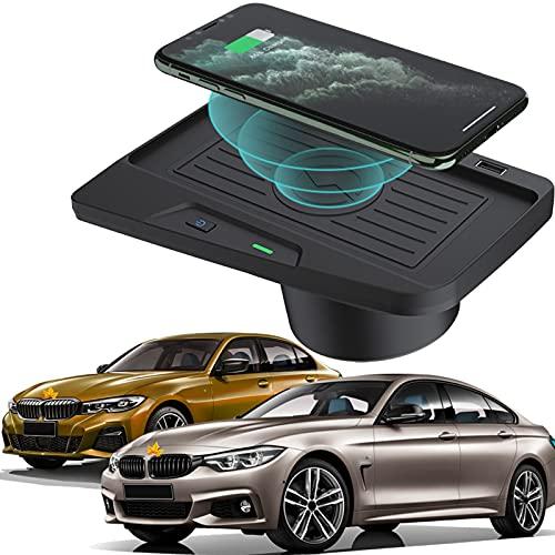 Actualización 2021 para BMW Serie 3 F30 / F31 / F34 / M3 2016 2017 2018/4 Serie F32 / F33 / F36 / M4 2018 2019 2020 2021 Cargador Inalámbrico Coche Panel Accesorios la Consola Central, 10W Qi Carga