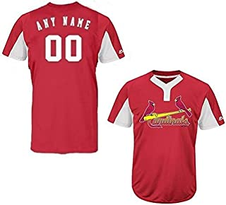 St. Louis Cardinals Blank or Custom Back (Name/#) 2-Button Cool Base Jersey