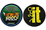 Hooch Herbal Snuff Wintergreen Fine Cut 1 Can with DC Crafts Nation Skin Can Cover - FIT Black